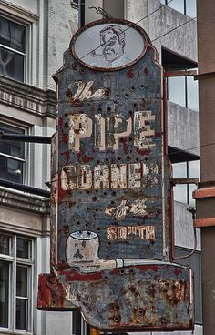Old Pipe tobacco shop sign