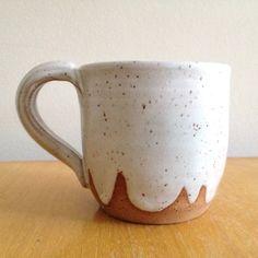 White Ceramic Cloud Mug handmade mug ceramic coffee by TheLuluBird, $18.00