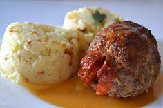 Špaček z mletého masa Czech Recipes, Ethnic Recipes, Tandoori Chicken, Mashed Potatoes, Cauliflower, Beef, Treats, Vegetables, Red Peppers