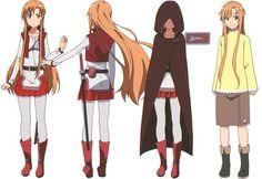 SAO Sword Art Online Asuna, Sword Art Online Drawing, Sword Art Online Cosplay, Arte Online, Online Art, Character Model Sheet, Character Design, Anime Art Books, Accel World