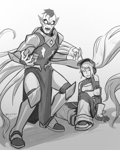 """Hordak: """"I'm only here to capture the traitor I told you about."""" Skeletor: """"This traitor, who is he?"""" Hordak: """"It isn't a 'he' it's a 'she'. It is the baby I took from Randor, Princess Adora. Steven Universe, She Ra Princess Of Power, Horde, Character Development, Fanart, Movies Showing, My Childhood, How To Fall Asleep, Cosplay"""