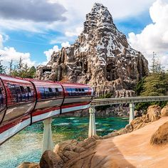 Two park icons: the Matterhorn and the Monorail | photo by Tom Bricker