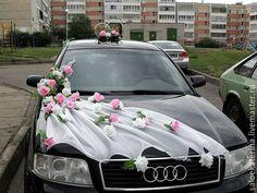 Купить Украшение на машину - украшение на машину, все для свадьбы, на заказ, комбинированный, фатин