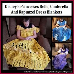 Dollar Store Crafter: Disney's Princess Gown Blankets