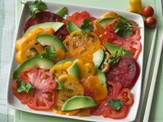 Farmers' Market Recipe Finder: Tomatoes: Tomato & Avocado Salad http://www.prevention.com/food/healthy-recipes/farmers-market-recipe-finder-tomatoes?s=4&?cid=socFD_20140702_27092316