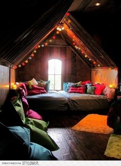 Bohemian bedroom. for an attic....so cool