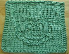 Knitting Patterns Dishcloth Ravelry: Boy Mouse Knit Dishcloth Pattern pattern by Lisa Millan Knitted Squares Pattern, Knitting Squares, Dishcloth Knitting Patterns, Crochet Dishcloths, Knit Or Crochet, Loom Knitting, Knitting Stitches, Knit Patterns, Cloth Patterns