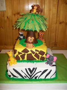 Jungle Theme Cake for Baby Shower