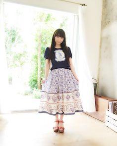 夏休み企画その25♪ ロングスカートです♪ 背が高くないので、普段はあまりはきません〜(笑)