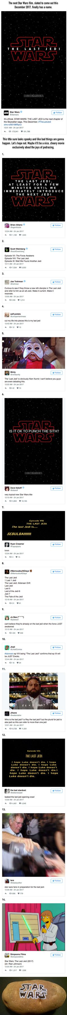 """14 Funniest Reactions To Newly Announced """"Star Wars: The Last Jedi"""""""