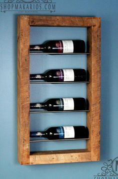 I am about to show you 2 simple tips to use with your DIY wine rack plans that can save … Wine Rack Storage, Wine Rack Wall, Wall Wine Holder, Vin Palette, Wine Rack Plans, Rustic Wine Racks, Metal Wine Racks, Pallet Wine Racks, Wine Bottle Rack