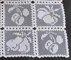 Advanced Embroidery Designs - FSL Crochet Fruit Squares Set.