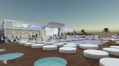 On the edge of the sea in Portimão, Blanco Beach is a premium day and night club. Open every day at for hanging by the cool pool. Beach Club, Miami Architecture, Portugal, Ibiza Beach, Beach Bedding, Beach Night, Beach Bars, Luxury Holidays, Chicago Restaurants