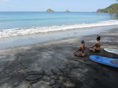 Sitting in Meditation before paddling out #Meditation #Yoga #YourZenYoga #SUPYoga #CostaRica