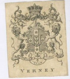Ex Libris of Ralph Verney, P.C., F.R.S., 2nd Earl Verney