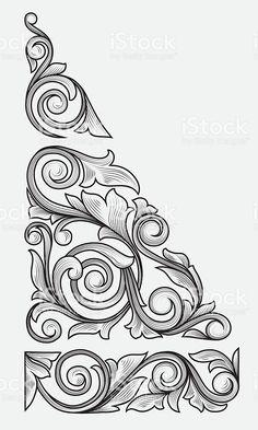 Vintage floral design elements royalty-free stock vector art