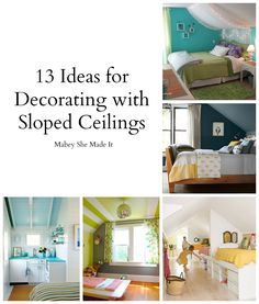 Decorating a room with sloped ceilings Living Spaces Pinterest