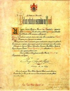"""May 13, 1888  With the passage of the Lei Áurea (""""Golden Law""""), Brazil abolishes slavery."""