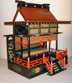 LARGE ANTIQUE Japanese DOLL HOUSE GOTEN