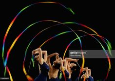 New South Wales compete in the group all round rhythmic gymnastics final during the 2016 Australian Gymnastics Championships at Hisense Arena on June 04, 2016 in Melbourne, Australia.