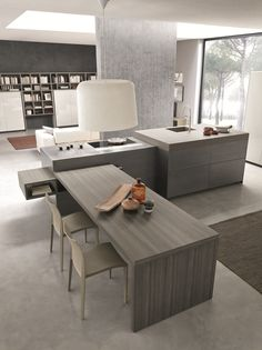 From kitchen to living area Segno, the new Comprex collectio.- From kitchen to living area Segno, the new Comprex collection From kitchen to living area - Home Decor Kitchen, Interior Design Living Room, Kitchen Living, Modern Farmhouse Kitchens, Home Kitchens, Kitchen Cost, Contemporary Kitchen Design, Cuisines Design, Küchen Design