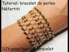 Make a bracelet in 10 minutes Beaded Jewelry Designs, Seed Bead Jewelry, Bead Jewellery, Jewelery, Handmade Jewelry, Beaded Bracelets Tutorial, Beaded Bracelet Patterns, Diy Bracelet, Netted Bracelet