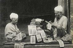 Escritores de libros, Kashmir 1900. Fotógrafo desconocido.