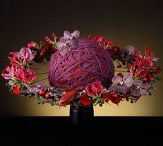 Description of the floral recipeWINTER DREAMS Centerpiece Wedding Flower Arrangements, Modern Floral Arrangements, Tall Centerpiece, Wedding Centerpieces, Flower Bouqet, Flower Bouquet Wedding, Peonies Bouquet, Purple Bouquets, Bridesmaid Bouquets