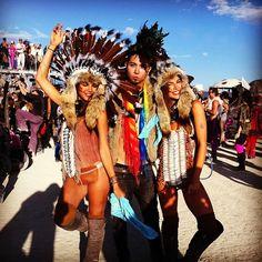 burning man photo rave girls
