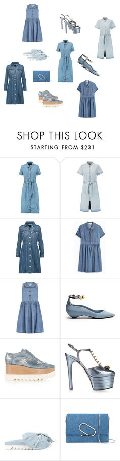 """Denim Outfit..**"" by yagna ❤ liked on Polyvore featuring Current/Elliott, Sea, New York, M.i.h Jeans, Paul & Joe Sister, Fabrizio Viti, STELLA McCARTNEY, Gucci, Joshua's, 3.1 Phillip Lim and vintage"