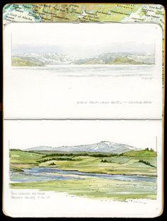 yellowstone sketchbook . sketching spirit