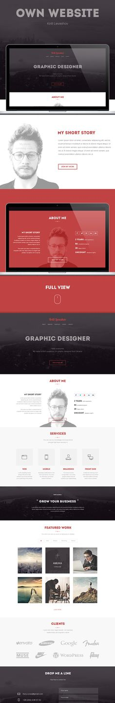 Own website by Kirill Levashov, via Behance