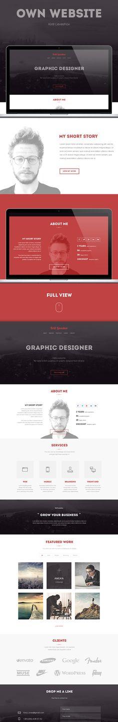 Own website by Kirill Levashov, via Behance