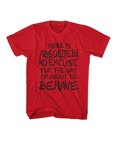 Another great find on #zulily! Red 'No Excuse' Tee by american classics originals #zulilyfinds