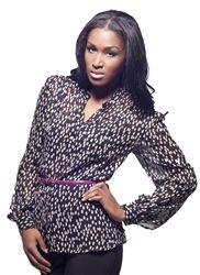 Aerin Button Down Silk Blouse for Tall Women