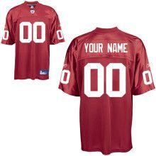 Reebok Legends Customized Reebok Arizona Cardinals Alternate Jersey in Red  $60