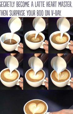 Café con corazón San Valentín