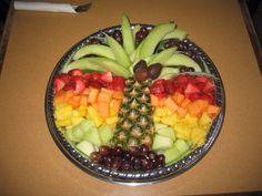Palm tree fruit platter
