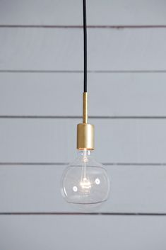 Brass Pendant Light - Mid Century