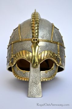 Vendel Helm with Pressblech: Front View by royaloakarmoury.deviantart.com on @deviantART