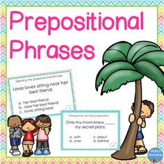 Help your students learn those pesky prepositional phrases with TWO different sets of task cards, 3 posters, black and white printables perfect for student notebooks, and an assessment. Choose fun and colorful or easy black and white. Perfect for centers, scoot, or small groups.includes:3 colorful preposition posters24 task cards - Find the Prepositional Phrase20 task cards - Choose the Correct Preposition2 printables sized for student notebooks1 worksheet/assessmentanswersresponse…
