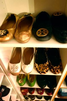 shoes shoes shoes Tory Burch  closet dressing room