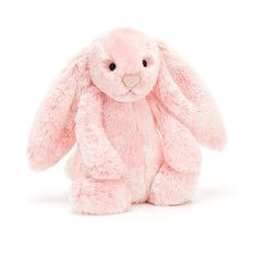 Blush and fluffy like cotton-candy, Bashful Peony Bunny is a flopsy delight! With soft pink fur mottled with white and as soft as a cloud, this long-eared lazer just loves a sunny snooze. Curl up and cuddle for sugar-sweet dreams. Bunny Care, Jellycat, Bunny Plush, Plush Animals, Stuffed Animals, Cute Bunny, Cuddling, Disney, Barn