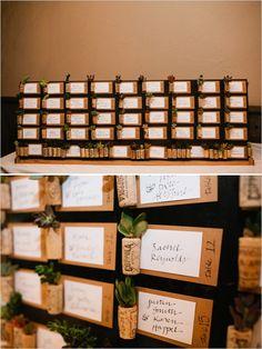 succulent wedding favor escort cards