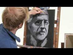 Ein 10 Minutenporträt Malen mit zwei Farben -  Portrait in schwarz-weiß