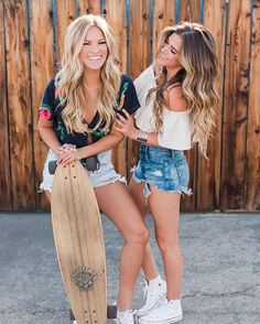 awesome hair and awesome friends. Loving these two and their summer inspired look