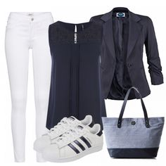 WhiteandBlue Damen Outfit - Komplettes Freizeit Outfit günstig kaufen | FrauenOutfits.de