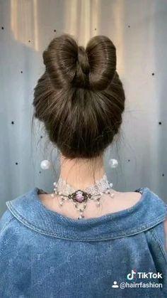 Easy Bun Hairstyles For Long Hair, Braids For Long Hair, Little Girl Hairstyles, Up Hairstyles, Braided Hairstyles, Hairstyle For Kids, Natural Hairstyles, Front Hair Styles, Medium Hair Styles