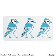 Sold! Thank you to the customer! Blue Jays Birds License Plate; ArtisanAbigail at Zazzle