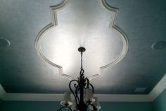 Ceiling Medallion - for dining room Home Ceiling, Ceiling Decor, Ceiling Ideas, Barrel Ceiling, Faux Panels, Granite Flooring, Grand Foyer, Loft House, Ceiling Medallions